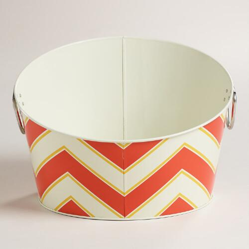 Chevron Slanted Party Tub