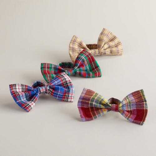 Assorted Preppy Wine Bottle Bow Ties, Set of 4