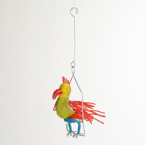 Beaded Parrot on a Wire