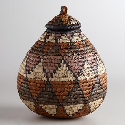 Small Zulu Basket with Lid