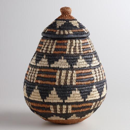 Medium Zulu Basket With Lid