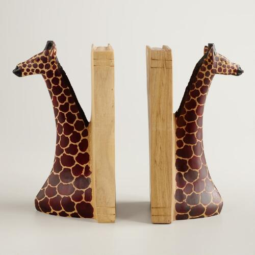 Yellowwood Giraffe Bookends