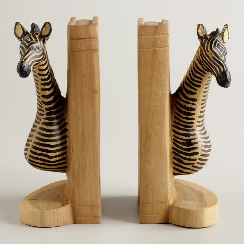 Yellowwood Zebra Bookends
