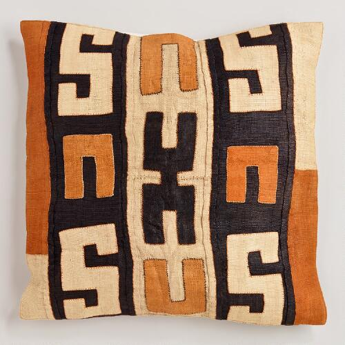 Square Kuba Pillow Cover