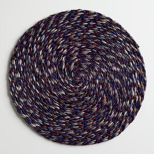Plum, Gray and Purple Placemats, Set of 2