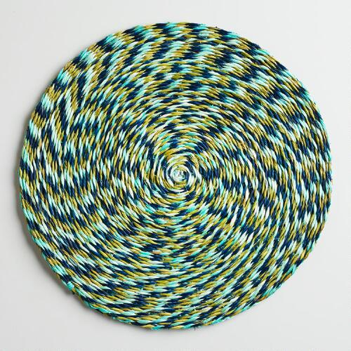 Lime, Turquoise and Indigo Placemats, Set of 2