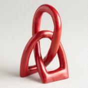 Red Soapstone Love Knot Figure