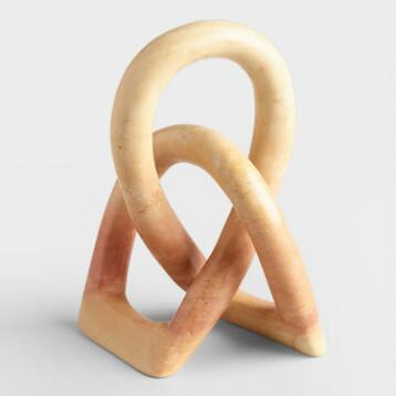 Natural Soapstone Love Knot Figure
