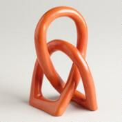 Orange Soapstone Love Knot Figure