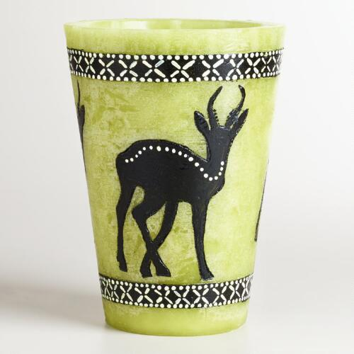 Lime Springbok Candle