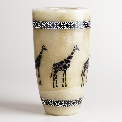 Large Walking Giraffe Candle
