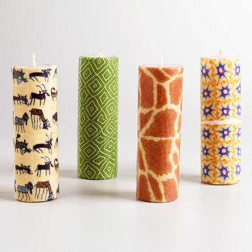 Swazi Half Church Candles, Set of 4