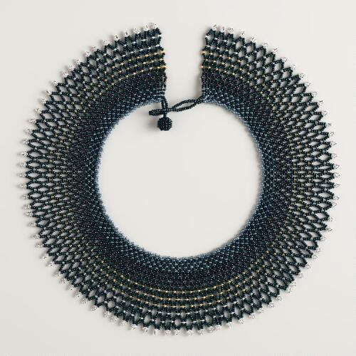 Lace Collar Zulu Bead Necklace