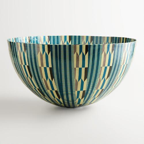 Giant Aqua Arrows Bowl