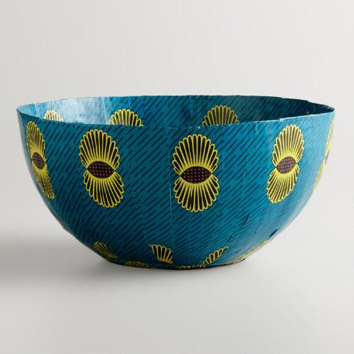 Large Aqua Pineapple Bowl