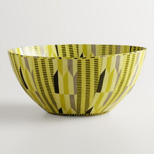 Large Yellow Arrows Bowl