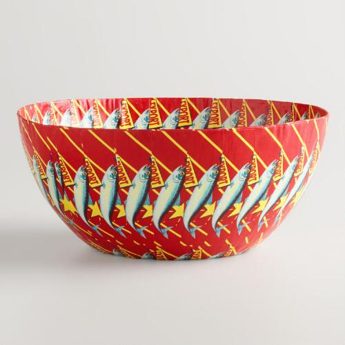 Medium Red Star Sardine Bowl