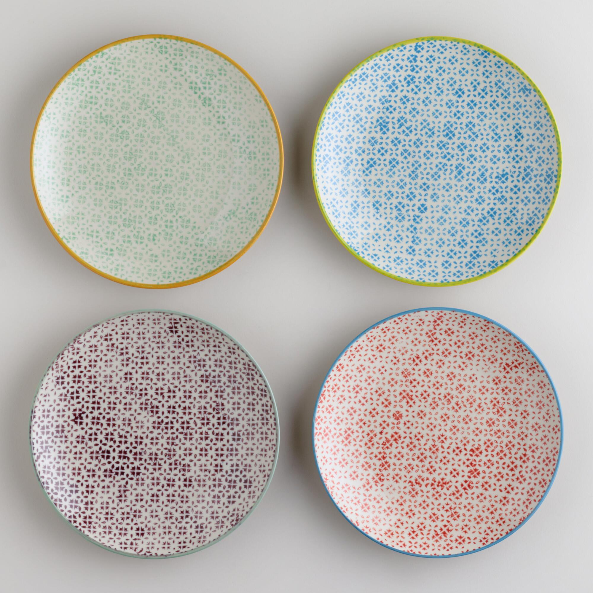 Charlotte Plates, Set of 4 | World Market