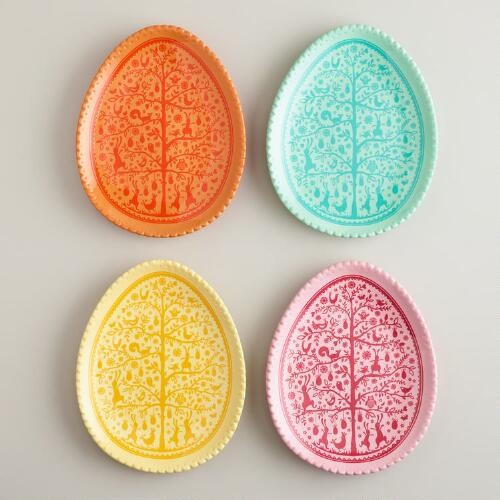 Easter Egg Plates, Set of 4