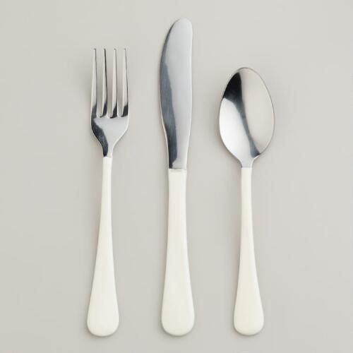 White Enamel Flatware