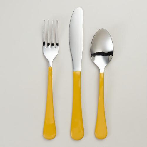 Yellow Enamel Flatware