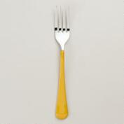 Yellow Enamel Forks, Set of 4