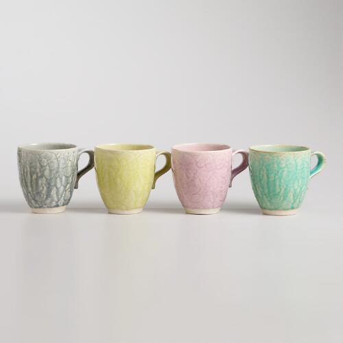 Lace Mugs, Set of 4