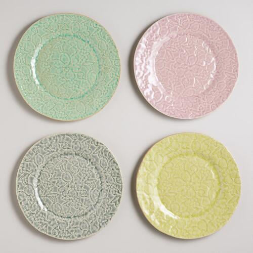 Lace Plates, Set of 4