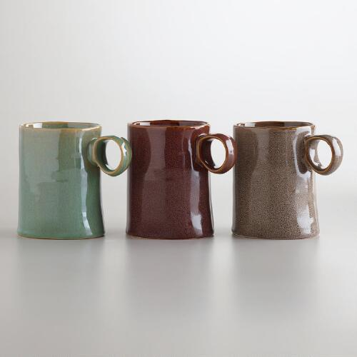 Organic Reactive Glazed Mugs, Set of 3