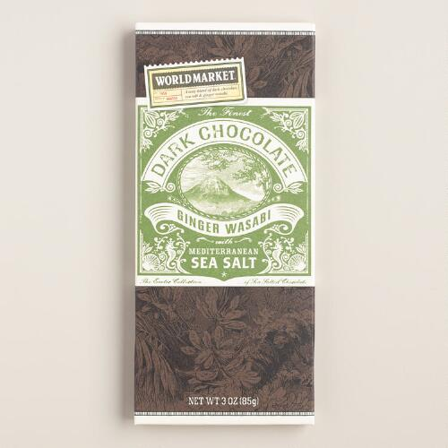 World Market® Sea Salt and Ginger Wasabi Dark Chocolate