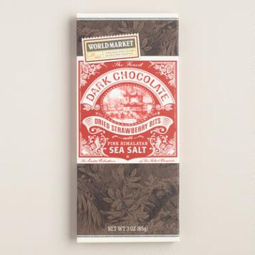 World Market® Sea Salt and Strawberry Dark Chocolate Bar