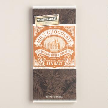 World Market® Sea Salt and Curry Milk Chocolate Bar