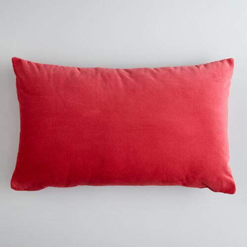 Baked Apple Cotton Velvet Lumbar Pillow