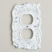 White Cast Iron Outlet Plate