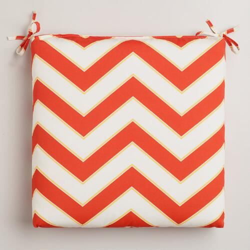 Warm Chevron Outdoor Chair Pad