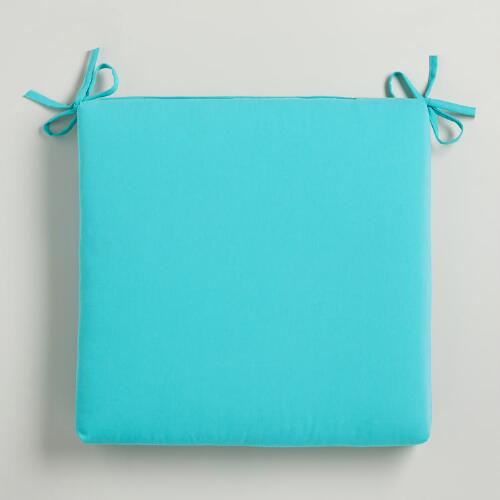 Turquoise Blue Outdoor Chair Pad