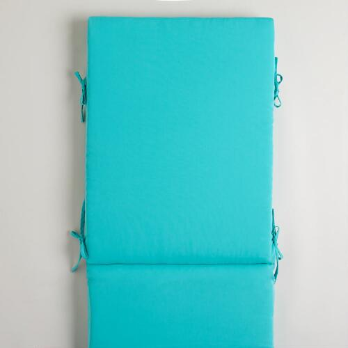 Turquoise Blue Pool Lounger Cushion