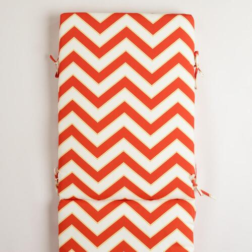 Warm Chevron Pool Lounger Cushion