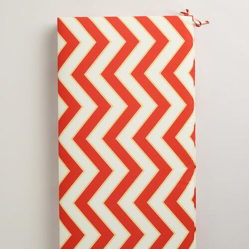 Warm Chevron Outdoor Bench Pad