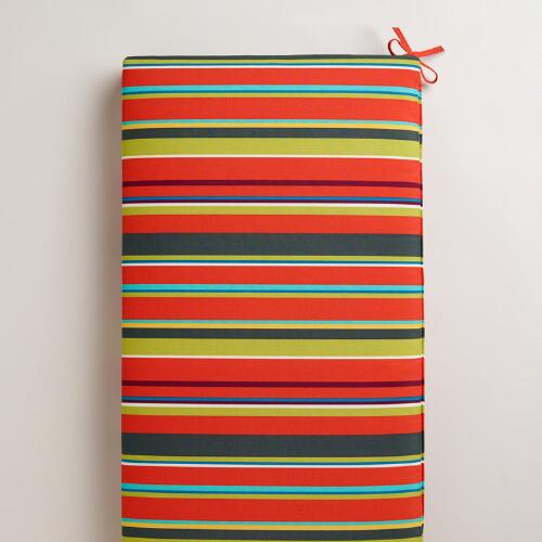 Harbor Stripe Outdoor Bench Pad
