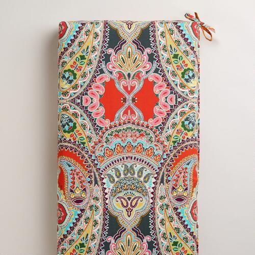 Warm Venice Paisley Outdoor Bench Pad