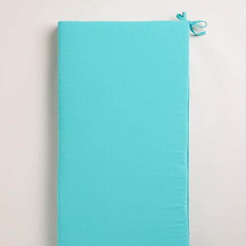 Turquoise Blue Outdoor Bench Pad