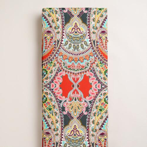 Warm Venice Paisley Long Outdoor Bench Pad