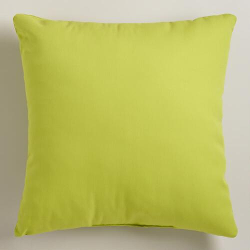 Apple Green Outdoor Throw Pillows