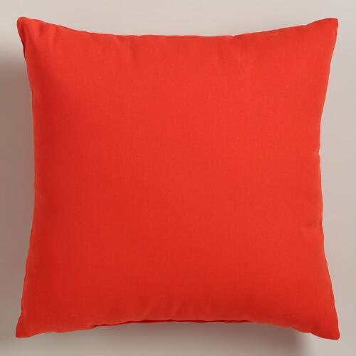 Spicy Orange Outdoor Throw Pillows