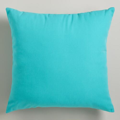 Turquoise Blue Outdoor Throw Pillows
