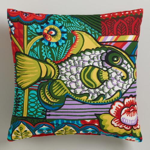 Delmar Fish Outdoor Throw Pillow