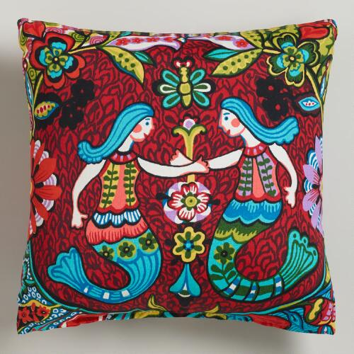Mermaid Outdoor Throw Pillow