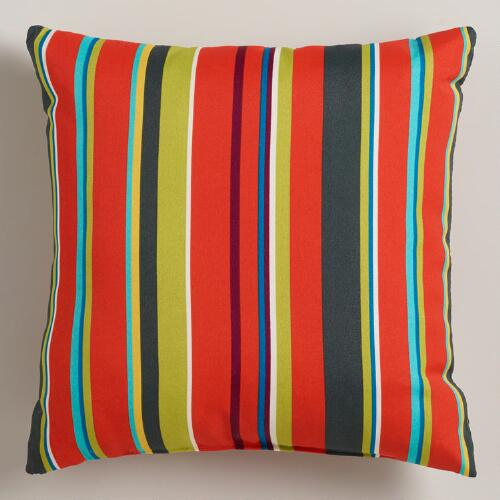 Harbor Stripe Outdoor Throw Pillow