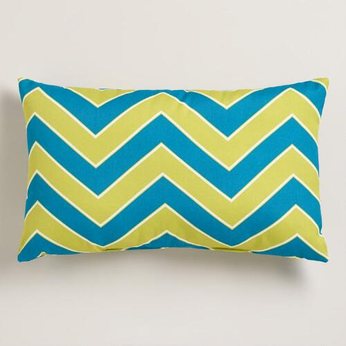 Cool Chevron Outdoor Lumbar Pillow